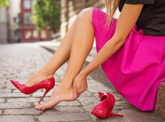 How to relieve foot pain from wearing high heels